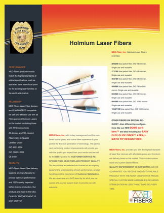 holmium laser fibers, holmium surgical laser fibers, holmium medical fibers